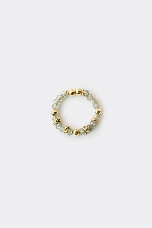 Gold Filled Labradorite Ring (Thick)