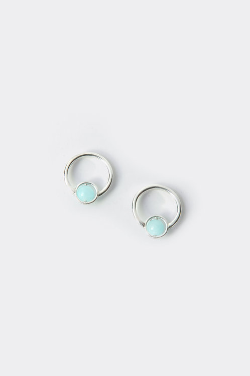"""Sterling Silver Bead Earring  (Hemimorphite)"""""""