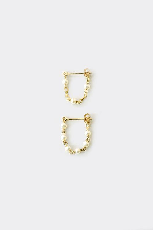 Gold Filled Pearl Loop Earring