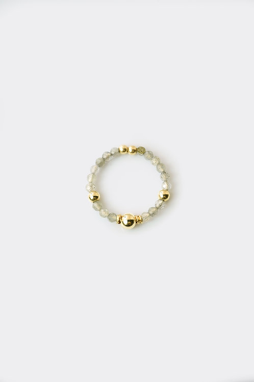Gold Filled Labradorite Ring (Thin)