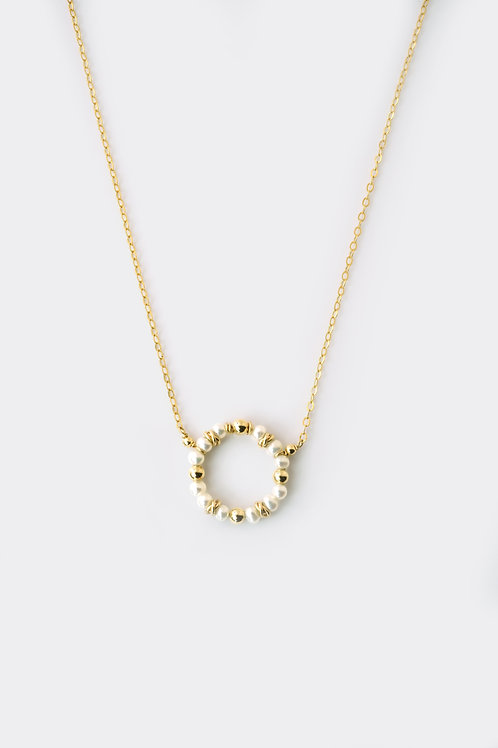 Gold Filled Pearl Round Pendant