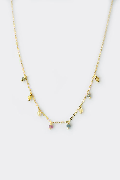 Gold Filled Rainbow Sapphire Necklace
