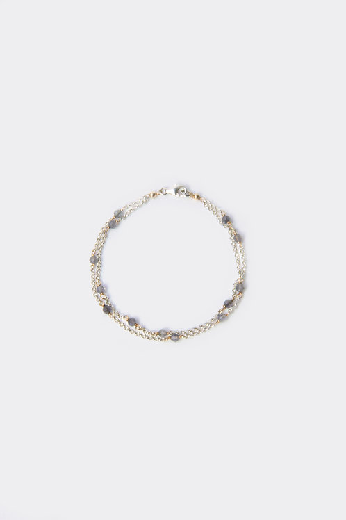 Silver Iolite Bracelet