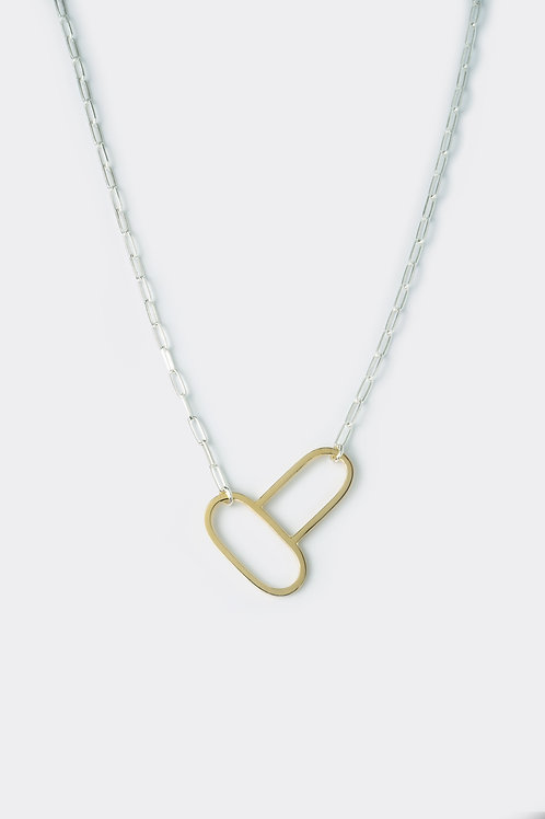 Double oval pendant (Gold)