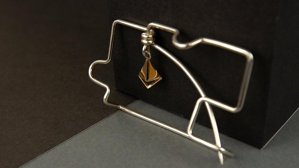 Wire Bending brooch