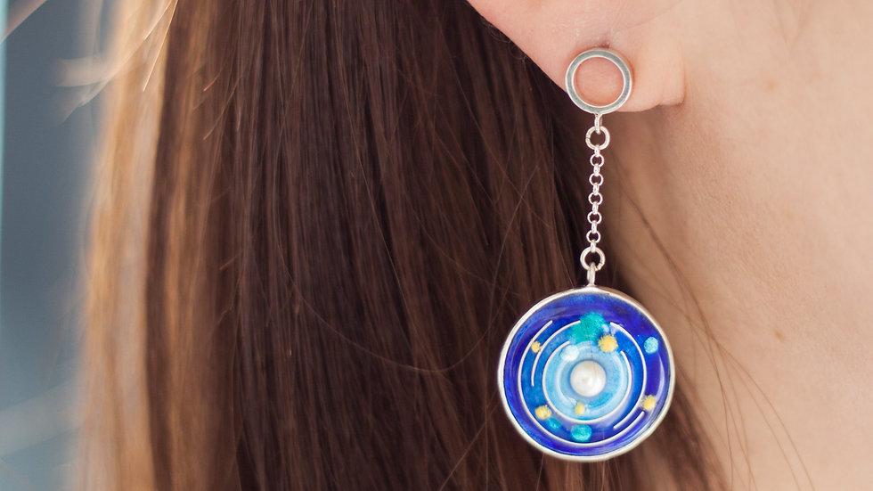 Cosmic Enamel Earing
