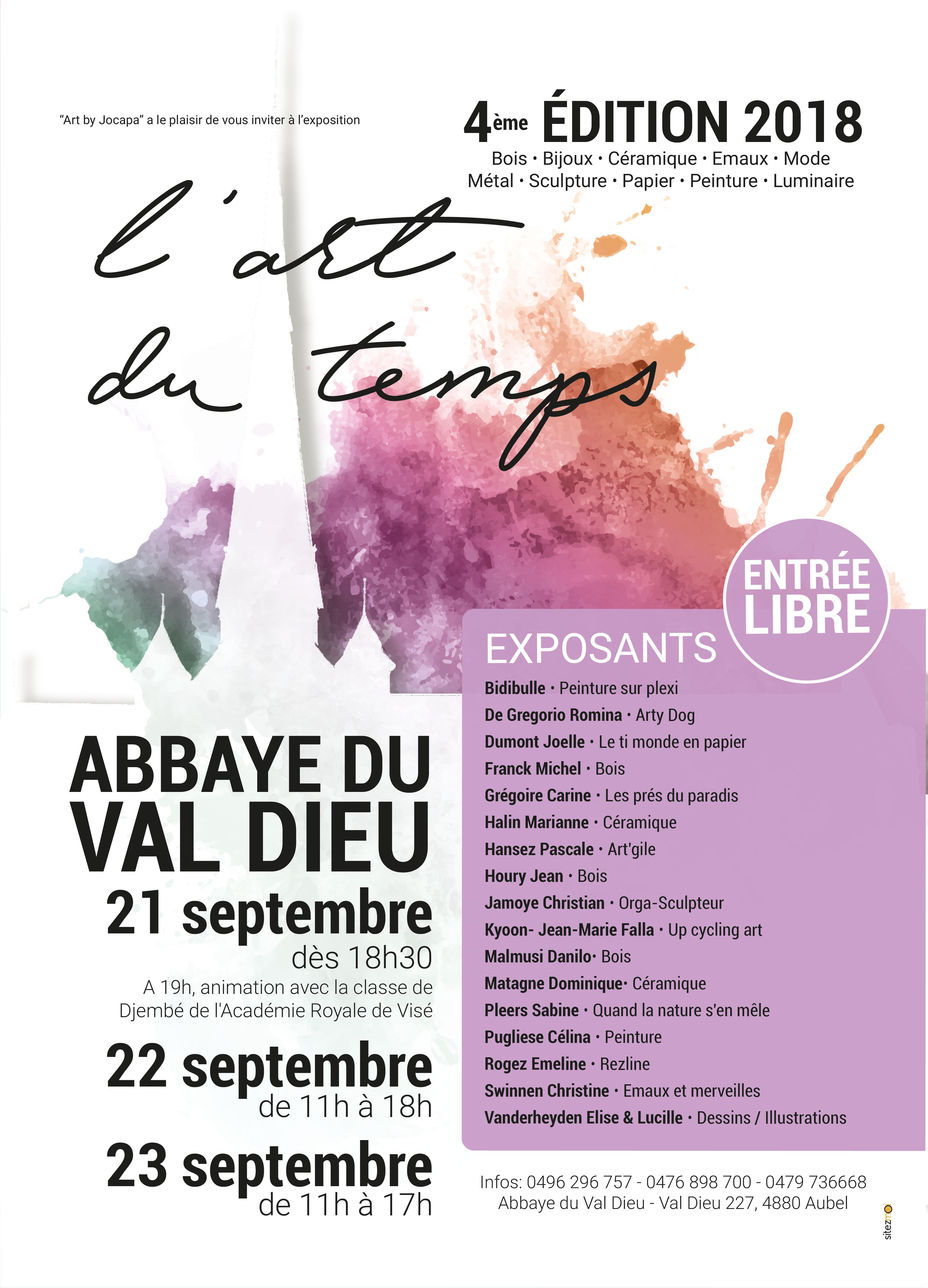 Affiche Expo Val Dieu 2018