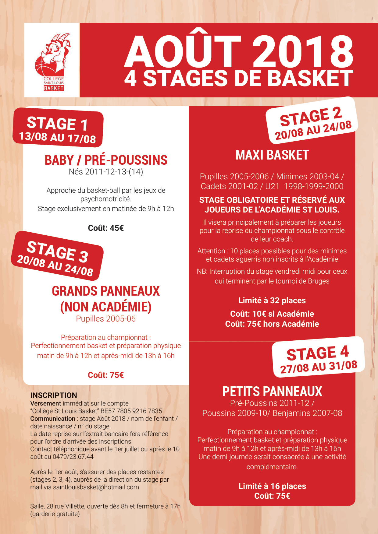 Stage Basket Aout CSLB