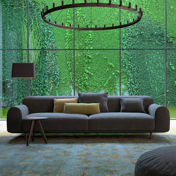 Chic Commerical Living Room Staging