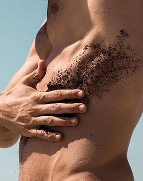 men's body scrub massage
