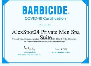 Alexspot24 men spa NYC safety certificat