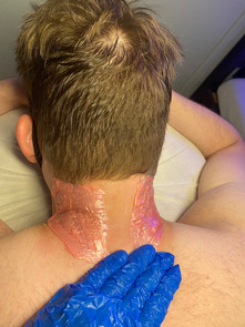 Male neck hair line waxing