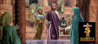 Mary And Joseph With Christ Enter The Te