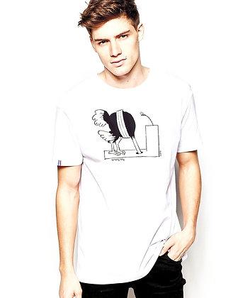 T-shirt recto porté - Homme
