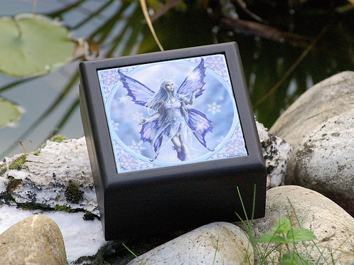 Boîte en bois Snow Fairy