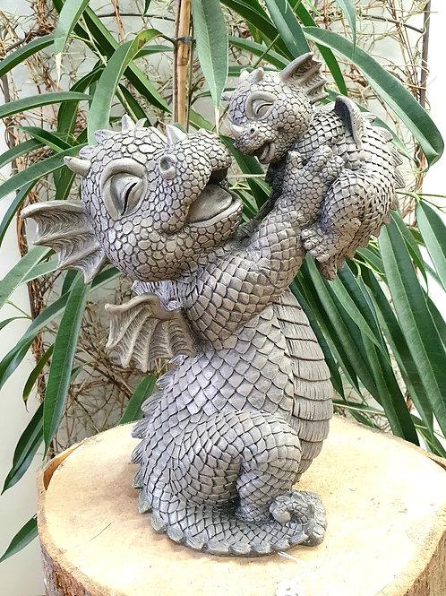 Dragon de jardin Zélie et son bébé