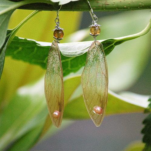 Boucles d'oreilles ailes de libellule