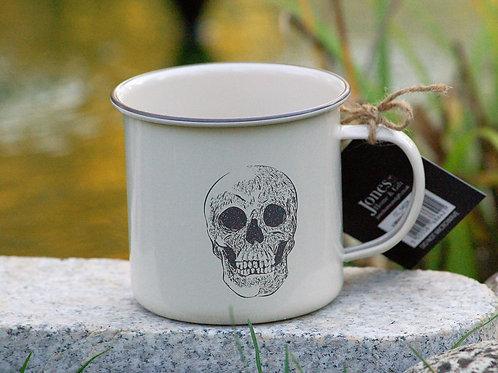 Tasse en émail Skull