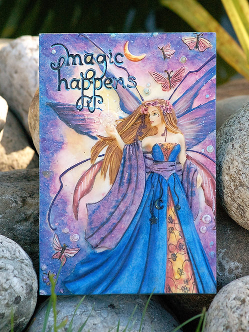 """Plaque murale """"Magic Happens"""""""