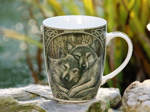 Mug couple de loups