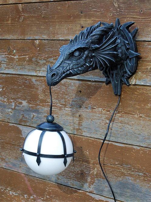 Lampe tête de dragon