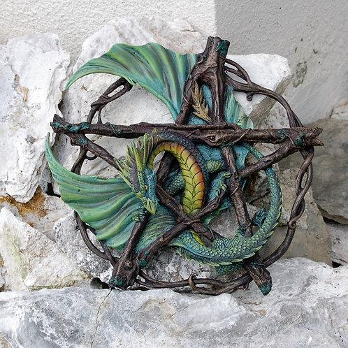 Applique Pentagram Forest Dragon
