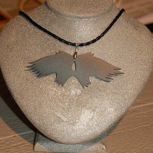 Collier ailes d'ange noir