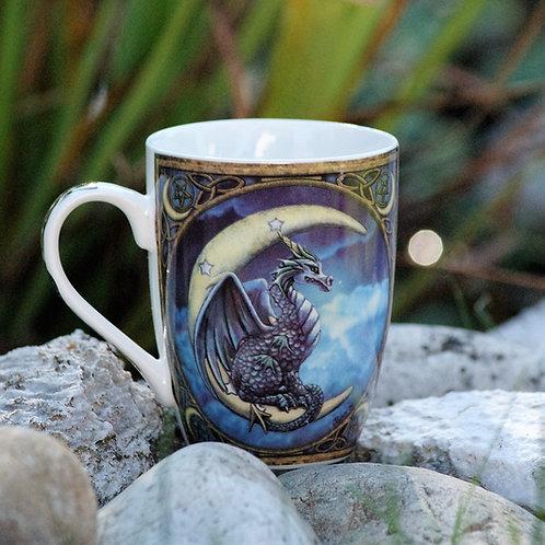 Mug dragon sur lune
