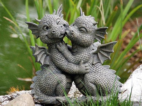 """Dragons de jardin """"bisou"""""""