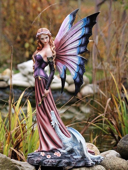 Fée Medyna et son petit dragon