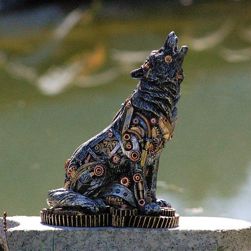 Loup Steampunk, diffuseur d'encens