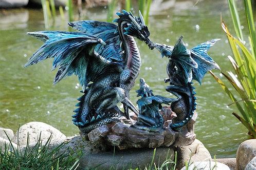 Dragonne Decensa et ses petits