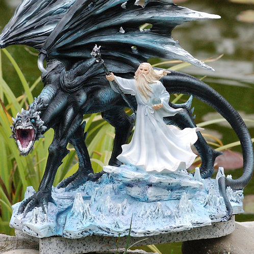 Le Mage Barthélémy et son dragon Cerius