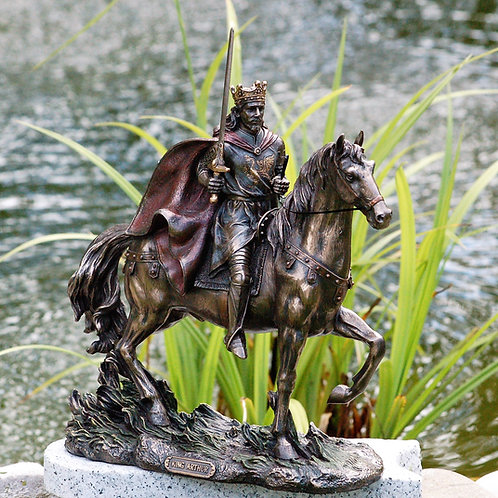 Le Roi Arthur sur son fidèle destrier