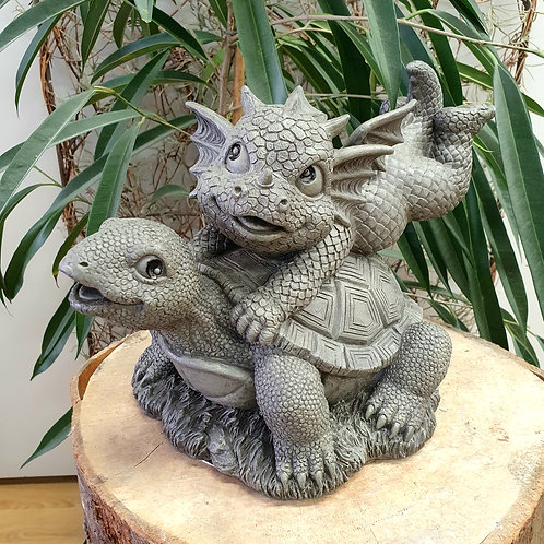 Dragon de jardin Ralph et sa tortue