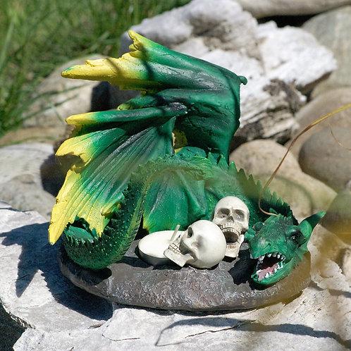 Dragon vert porte-bougie