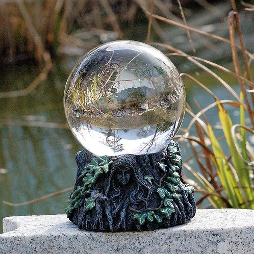 Boule de cristal avec support sorcières