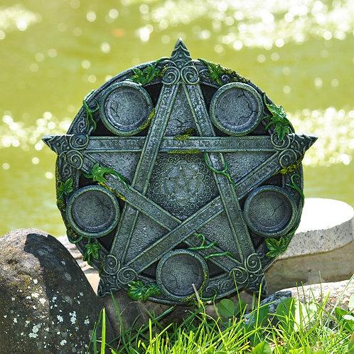 Wiccan Pentagram / porte-bougie