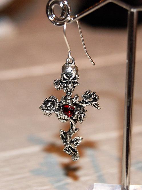 Boucle unique Rose Thorn Cross