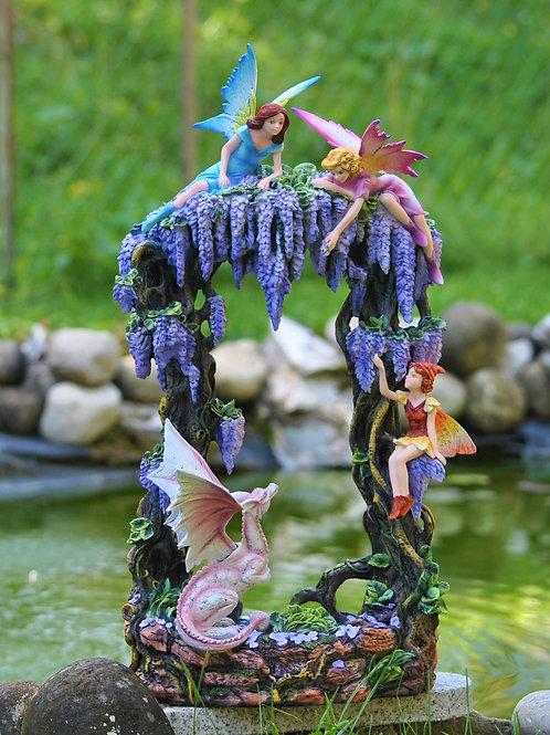 Glycine avec fées et dragon