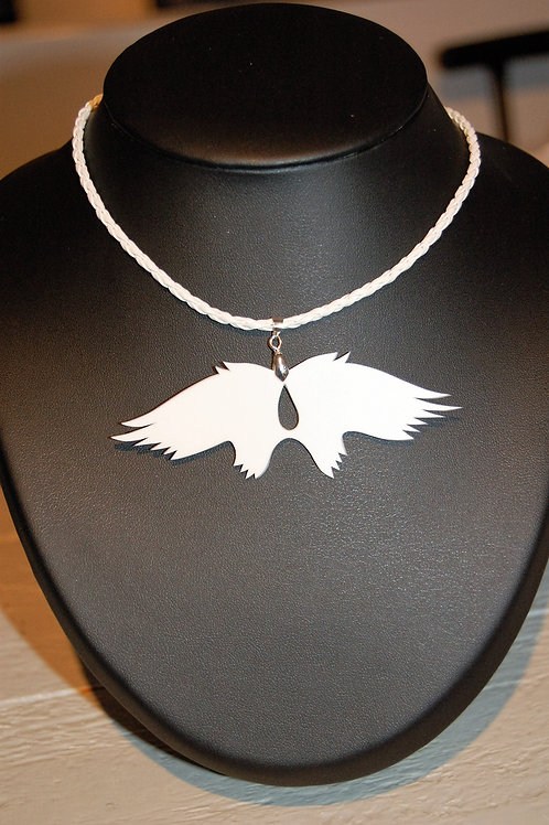 Collier ailes d'ange blanc