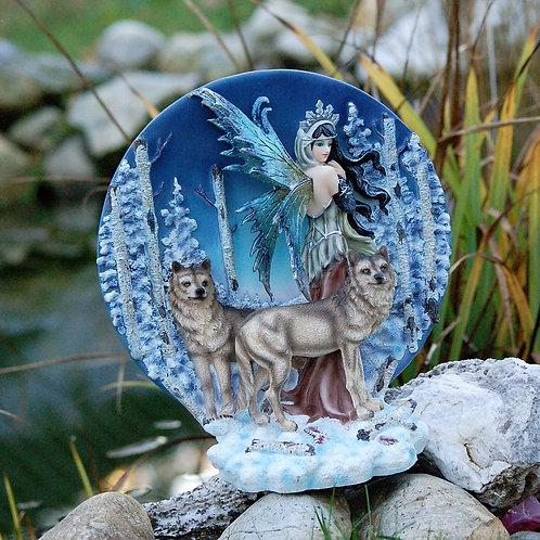 Disque fée avec 2 loups