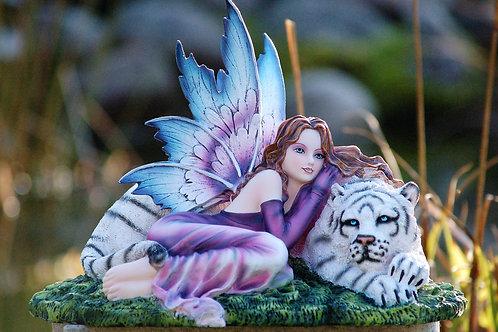 Teigra et son tigre blanc