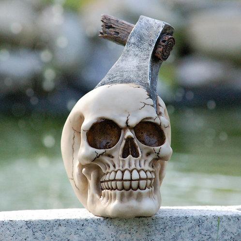 Crâne à la hache