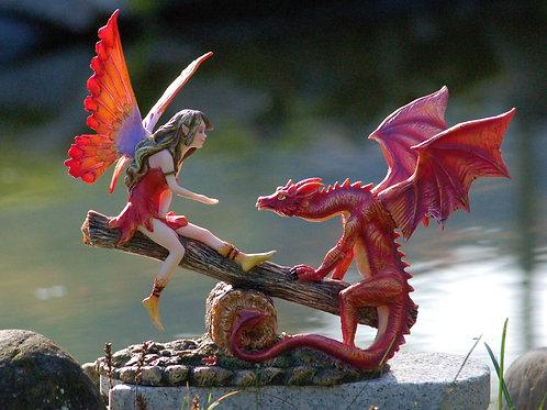 Fée Lylwen et son dragon