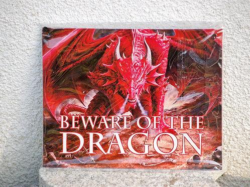 """Plaque métal """"Beware of the Dragon"""""""