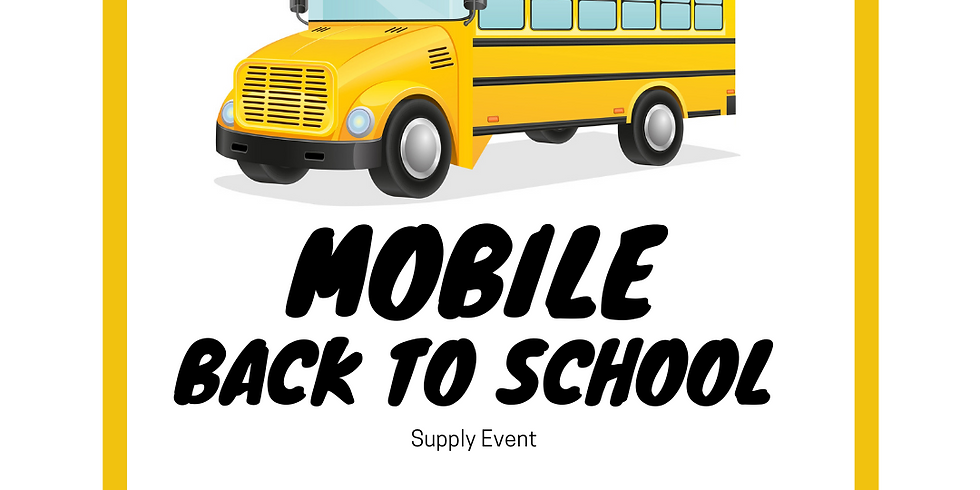 Mobile Back to School Supply Event
