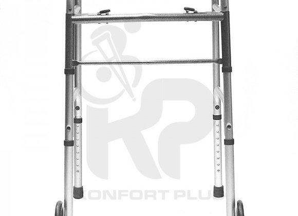 """Caminador con Ruedas de 5"""" en Aluminio Anodizado"""