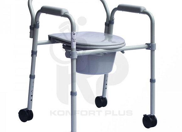 Cómodo Sanitario en Acero Plegable Con Ruedas Konfort Plus
