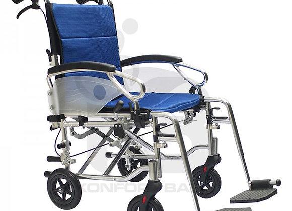 Silla de Ruedas Estándar y de Transporte en Aluminio Konfort Basic